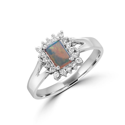 Rectangle Opal Ring