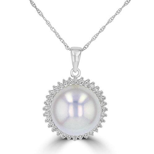 Empire Collection Halo Pearl Pendant