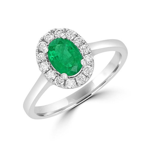 EMPIRE Halo Emerald Ring