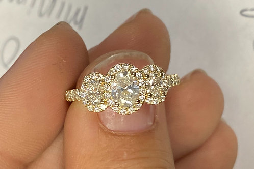 APEX 3-Stone Diamond Ring
