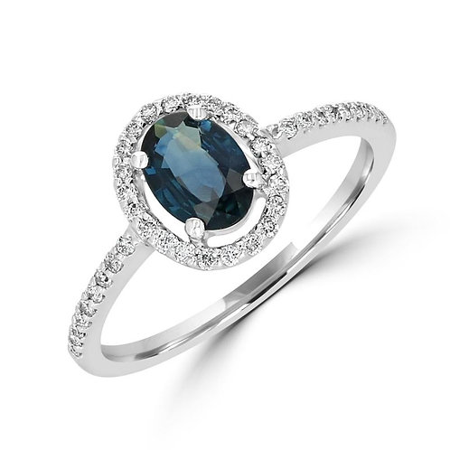 EMPIRE Oval Halo Sapphire Ring