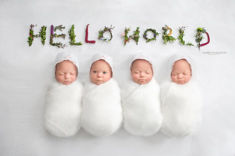 Webb Quadruplets 3-Month Shoot | Grande Prairie Photographer | Alberta Photographer