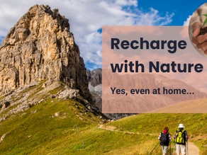 Recharge with Nature - yes, even at Home