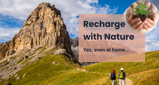 Recharge with nature and the outdoors - Yes, even at home