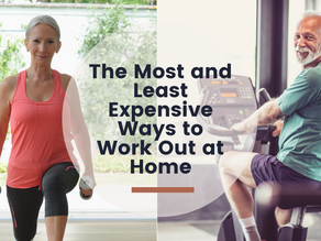 The most and least expensive ways to work out at home