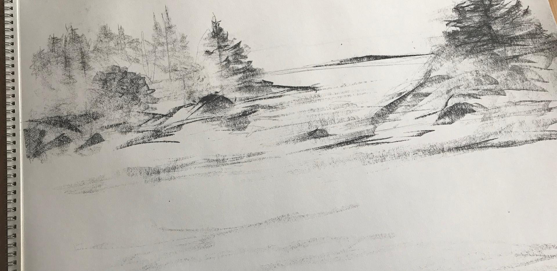 """A Lobstermans View"", sketch 2"