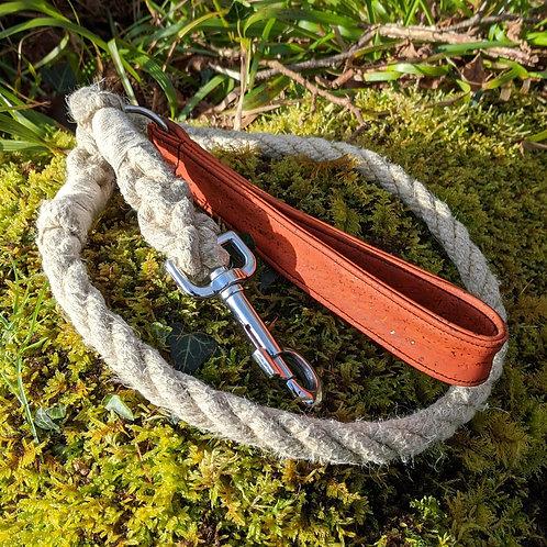 Hemp Rope Leash w/ Cork Handle