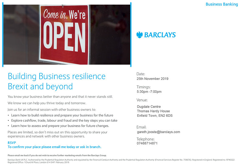 Building Business Resilience Invitation