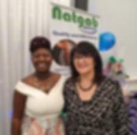 Gladys Anoquah, Natgab Services (left),