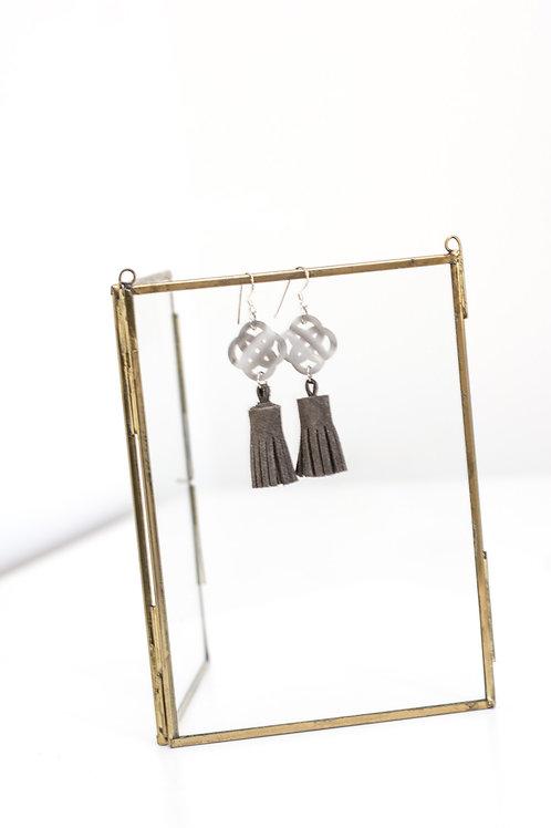 OHRRINGE - metallic graubraun