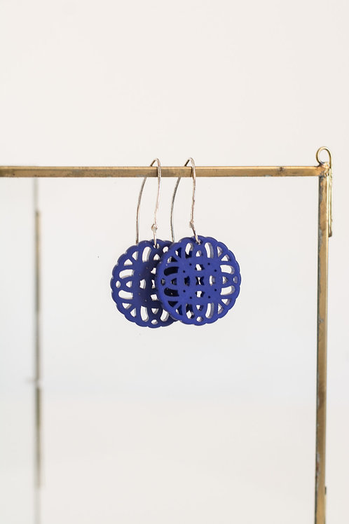 OHRRINGE - Ornament blau