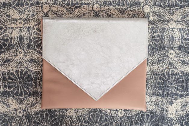 Clutch rose/silber