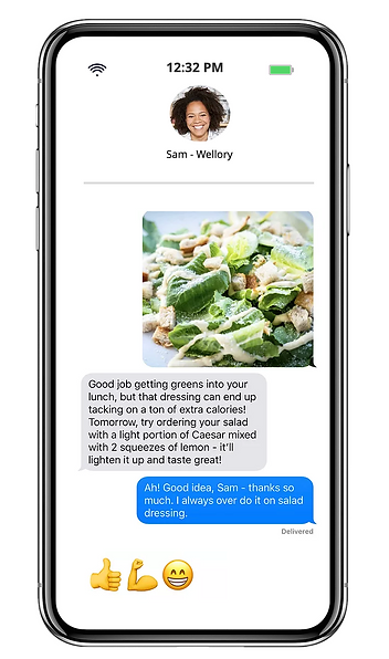 Text with your Wellory expert.