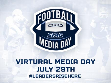 SIAC TO HOST VIRTUAL FOOTBALL MEDIA DAY ON JULY 29TH
