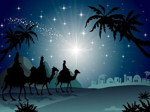 Nativity Silhouette Backdrop