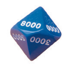Jumb Place Value Dice - 1000's - Pack of 6