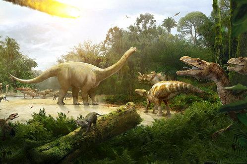 Dinosaur Meteor Bespoke Backdrop