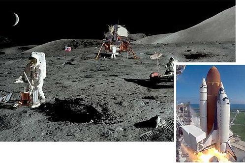 Moon and Space Shuttle Scene Setter - medium