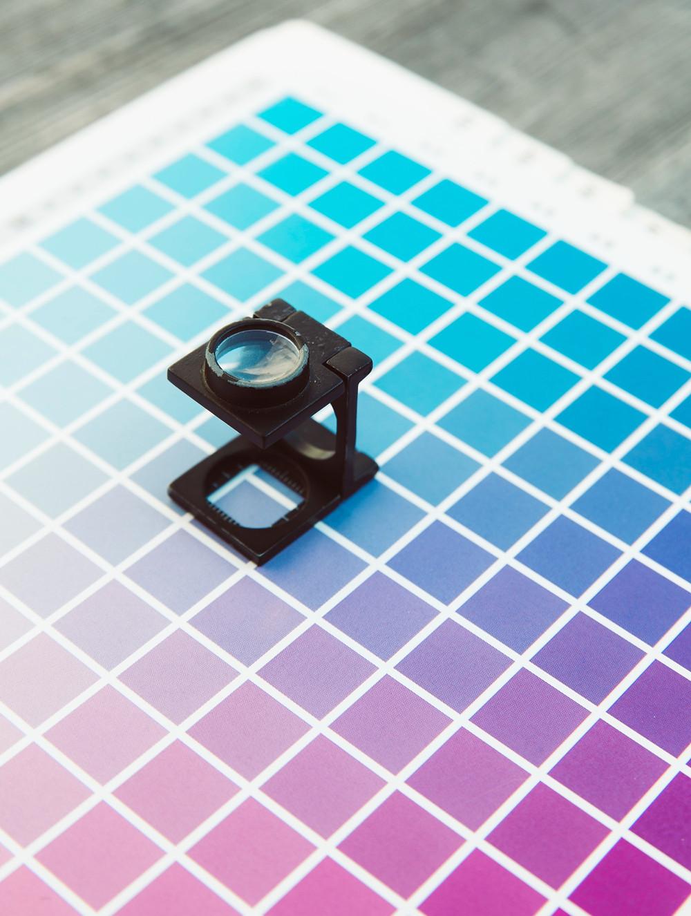 Colour palette for design
