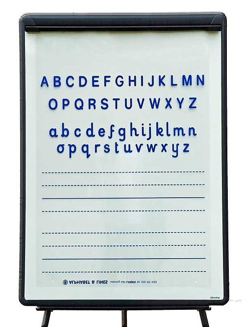 Alphabet & Lines Overlay