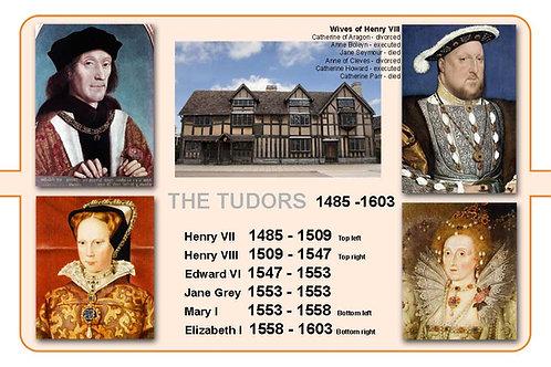 The Tudors A4 Timeline Plate