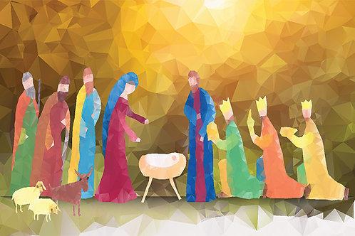 Nativity Mosiac Illustration