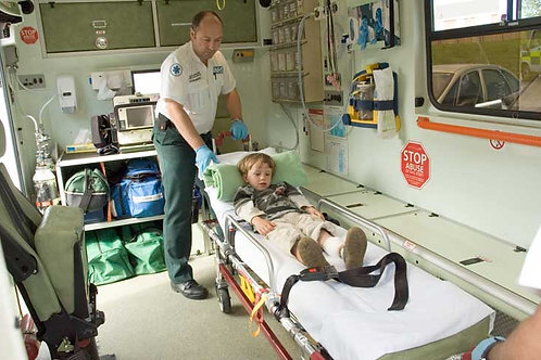 Ambulance - inside Bespoke Backdrop