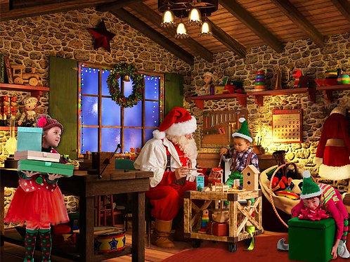 Santas Workshop Backdrop