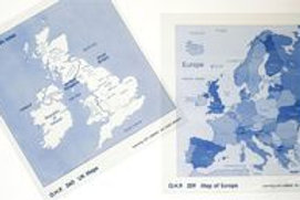 Map of the United Kingdom OHP