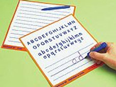 Work Cards - Alphabet & Lines - Pack of 6