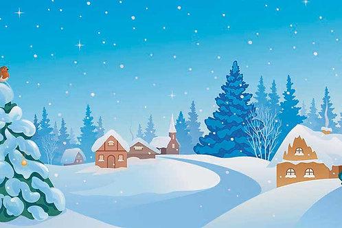 Snowy Christmas Scene