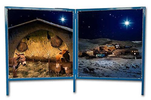 Christmas Nativity backgrounds & small frames