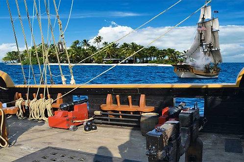 Pirate Ship Side Deck Bespoke Backdrop