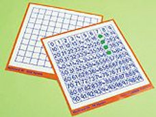 Work Cards-99 Square & Grid- Pack of 6 (codeB194)