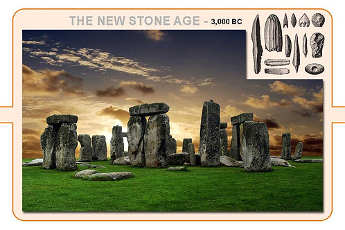 New Stone Age A4 Timeline Plate