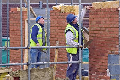 Builders Working Bespoke Backdrop