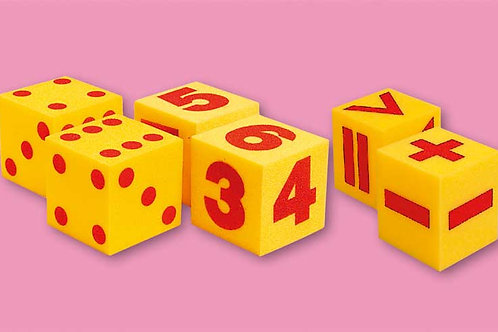 Giant Soft Dice - Set of 2 Numeral Cubes