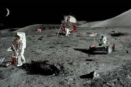 Space Moon Surface Bespoke Backdrop