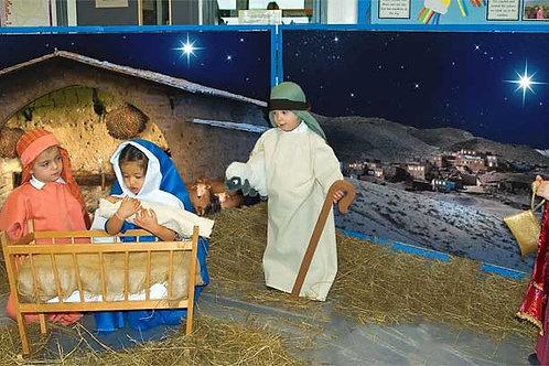 Christmas nativity backgrounds & large frames