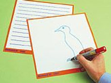Work Cards-Lines & Blank - Pack of 30 (code B197a)