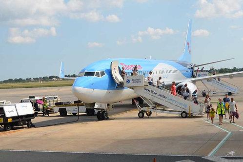 Airport - boarding plane Bespoke Backdrop