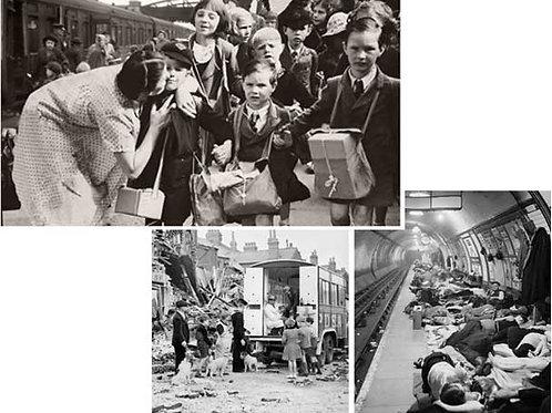 WW2 Blitz & Evacuation Backdrops - large