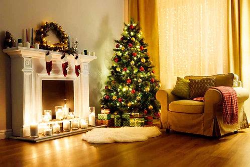 Festive Fireside backdrop
