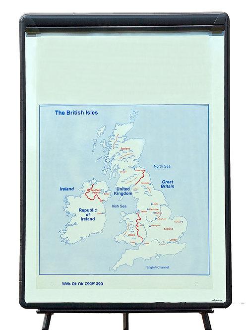 United Kingdom Map Overlay