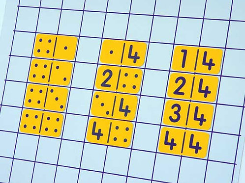 Double Nine Magnetic NUMBER Dominoes1