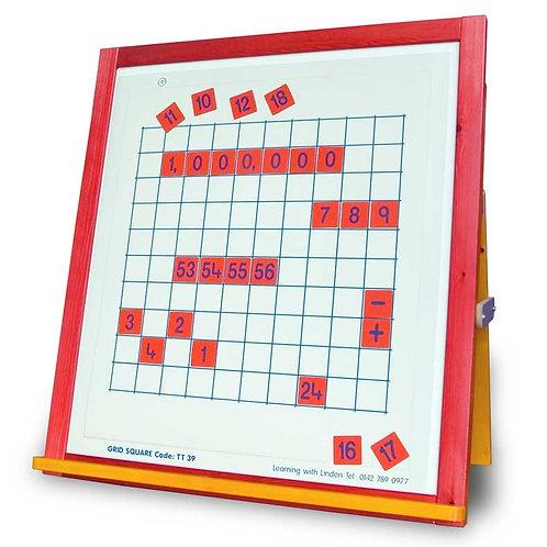 Printed Number Squares - Yellow Set