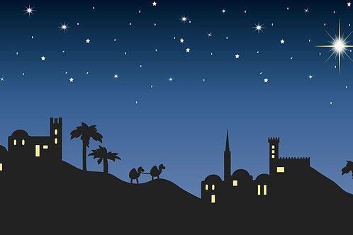 Nativity Bethlehem Illustration backdrop