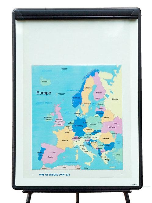 Map of Europe Overlay