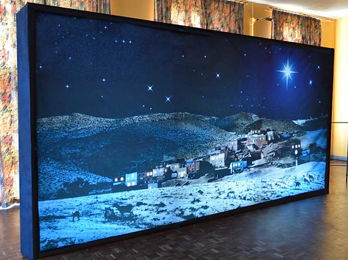 Backlit Nativity Backdrop & Frame
