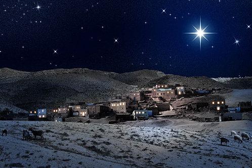 Bethlehem at Night backdrop - large 175 x 96cm